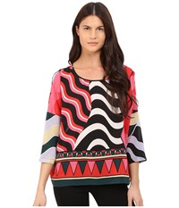 M Missoni Abstract Top Black Women's Clothing