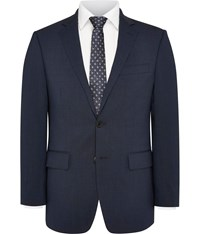 Austin Reed Pin Dot Classic Fit Suit Jacket Blue