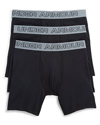 Under Armour Charged Cotton Boxer Briefs Pack Of 3 Black