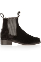 Penelope Chilvers Velvet Ankle Boots Brown