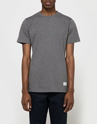 Norse Projects Niels Basic Ss Tee In Charcoal
