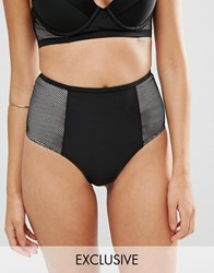 Wolf And Whistle Tummy Control Bikini Bottom Black