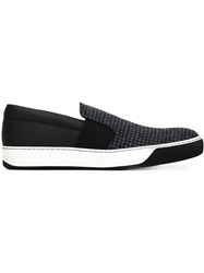 Lanvin Houndstooth Print Slip On Sneakers Multicolour