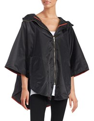 Totes Hooded Zip Front Cape Black