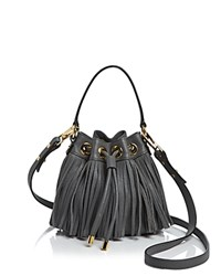 Milly Crossbody Essex Fringe Small Drawstring Grey