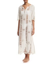 Figue Crocheted Cotton Caftan Coverup Indian Ivory Size Xx Large