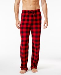 Club Room Men's Faux Fleece 2 Pack Pajama Pants Only At Macy's Red
