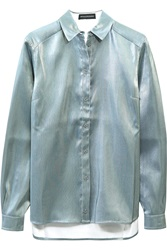 Ostwald Helgason Metallic Cotton Blend Shirt