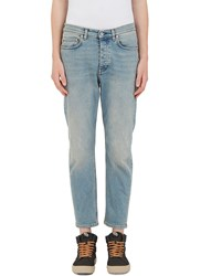 Acne Studios Town Dirty Cropped Leg Jeans Blue