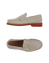 Saxone Moccasins Light Grey