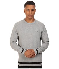 Fred Perry Crew Neck Sweat Steel Marl Men's Long Sleeve Pullover Gray