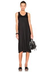 Atm Anthony Thomas Melillo Silk Racerback Tank Dress In Black