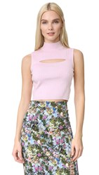Cushnie Et Ochs Mock Neck Crop Top Pink