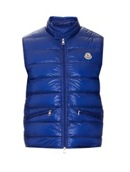 Moncler Gui Quilted Down Nylon Gilet Blue