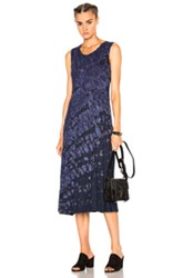 Raquel Allegra Big Sweep Dress In Blue Ombre And Tie Dye Blue Ombre And Tie Dye