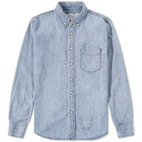 Remi Relief Washed Denim Shirt Blue