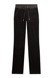 Juicy Couture Velour Track Pants Black