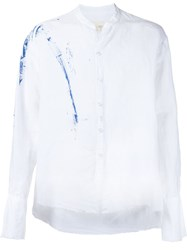 Greg Lauren Splatter Print Shirt White