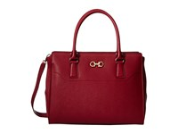 Salvatore Ferragamo 21F271 Beky Opera Satchel Handbags Red