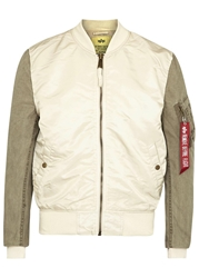 Alpha Two Tone Bomber Jacket
