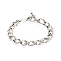Think Positive By Antonio Marsocci Chunky Sterling Silver Bracelet