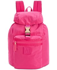 Tommy Hilfiger Training Plus Solid Nylon Small Backpack Medium Pink
