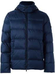 Michael Kors Hooded Puffer Jacket Blue