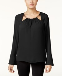Thalia Sodi Bell Sleeve Hardware Top Only At Macy's Black
