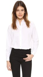 Vince Crossover Button Up Shirt Optic White