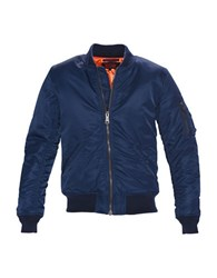 Schott Flight Satin Souvenir Jacket Navy