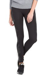 Spanxr Women's Spanx 'Aztec Stripe' Leggings Very Black Charcoal