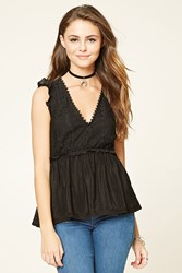 Forever 21 Lace Cutout Back Top