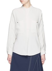Comme Moi Drop Shoulder Oversized Shirt White