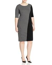 Marina Rinaldi Olio Panel Shift Dress White