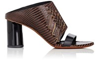 Proenza Schouler Women's Fringed Stamped Leather Mules Tan