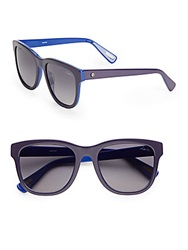 Lanvin 54Mm Two Tone Wayfarer Sunglasses Purple Blue