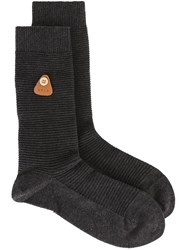 Folk Ribbed Socks Grey