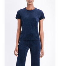 Juicy Couture Embellished Velour T Shirt Regal