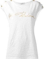 Balmain Pierre 'Muscle' T Shirt White