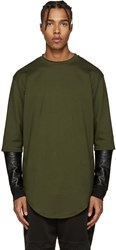 Pyer Moss Green Layered Sleeves Pullover
