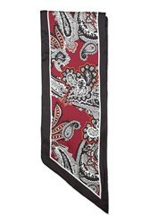 Topshop Paisley Skinny Scarf Red