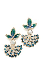 Gas Bijoux Paloma Clip On Earrings Green