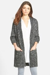Trouve Trouve Split Hem Cardigan Gray