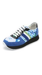 Carven Printed Sneakers Blue