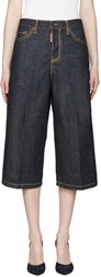Dsquared Blue Denim Wide Leg Trousers