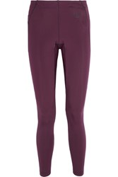 Fendi Paneled Stretch Jersey Leggings Merlot