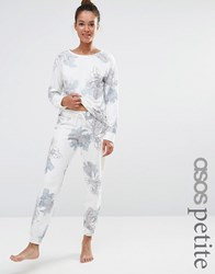 Asos Petite Lounge Floral Water Colour Jogger Multi