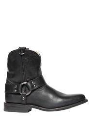 Frye 20Mm Wyatt Harness Leather Cowboy Boots Black