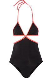 Agent Provocateur Cari Two Tone Cutout Swimsuit Black
