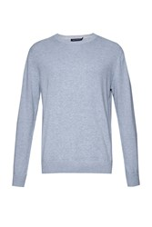 French Connection Julep Printed Crew Neck Jumper Sky Blue
